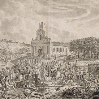 과들루프의 프랑스 원정대 앞의 영국 군대의 항복