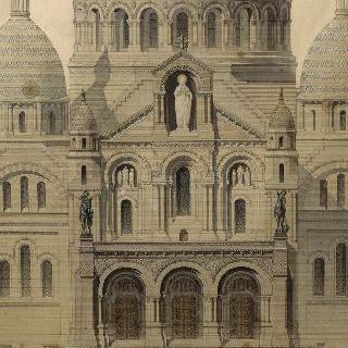 사크레 쾨르 성당의 계획안, 남쪽 입면도