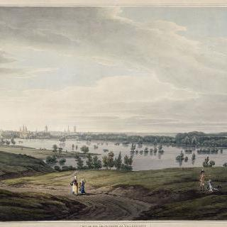 1793년의 포위 공격이 있을 당시의 발랑시엔 홍수 광경