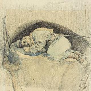 1915년 4월 8일 개인 참호에서 잠든 병사, 부아르프레트르