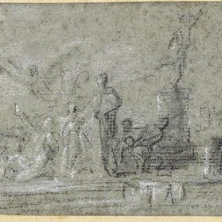 루앙 상공 회의소 그림의 두 번째 초벌화
