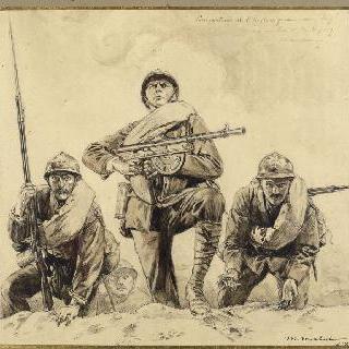 외인 부대의 병사들. 1918년 소총수들, 기관총 사수들과 척탄병들