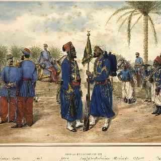 1870년 알제리 원주민 부대의 보병