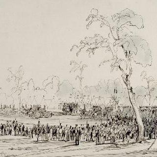 1837년 5월 28일 퐁텐블로숲에서의 왕의 열병식.