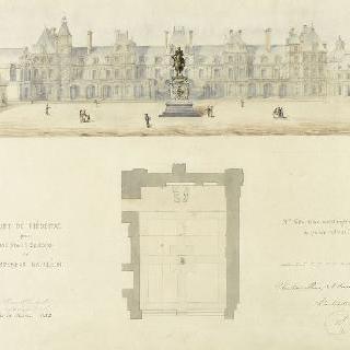 아듀 왕궁의 나폴레옹의 기마상 계획안