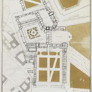퐁텐블로성의 도면 : 전체 전경