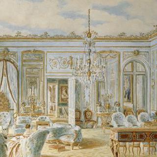빅토리아 왕후와 알베르 왕자가 있는 생 클루의 외제니 황후의 살롱