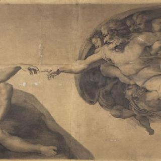 인간 창조 복사, 미켈란젤로, 식스틴 예배당