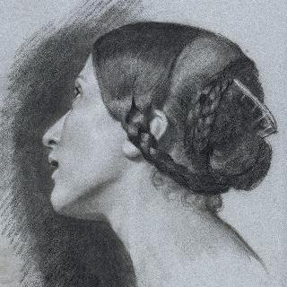 여인의 측면 두상