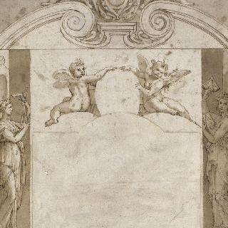 아기천사와 역품 천사가 있는 건축 작품