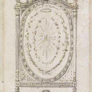 베르사유궁전의 마리 앙투아네트 왕비을 위한 가리개 계획안
