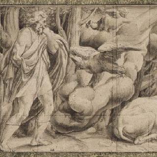 프리즈 : 아르구스를 죽이는 헤르메스