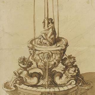 샘 습작 : 기둥 아래의 사자와 여인