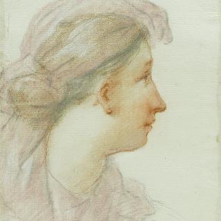 머플러로 머리를 치장한 여자 프로필