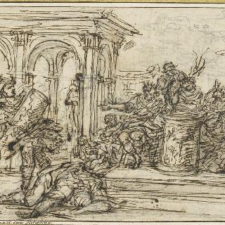 포르세나 왕의 신하를 죽인 무시우스 스캐볼라