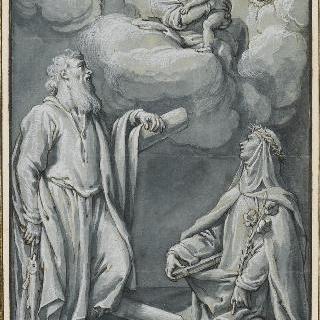 성녀 카트린과 성 앙드레의 성모와 아기 예수에 대한 경배