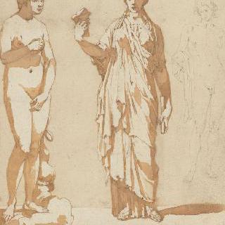 세 개의 고대 조각 군상 : 비너스와 아폴론