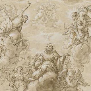 삼위일체의 신들의 환영을 받는 천상의 성 프랑수아 드 폴
