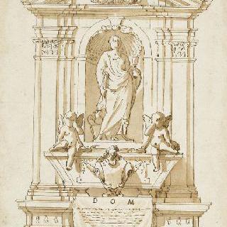 사도 성 요한의 동상과 제단 계획안