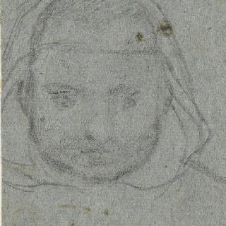 샤르트르회 수도사의 두상 앞모습