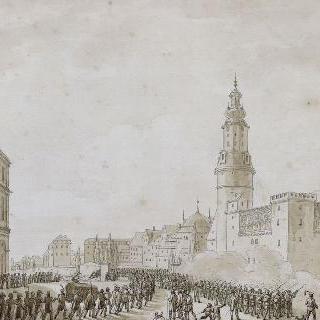 1806년 10월 베이마르의 프랑스 장교의 매장