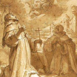 구름 속의 아기 예수를 안은 성모와 성자들