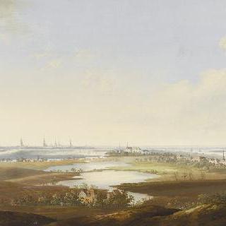 함부르크 도시의 전경