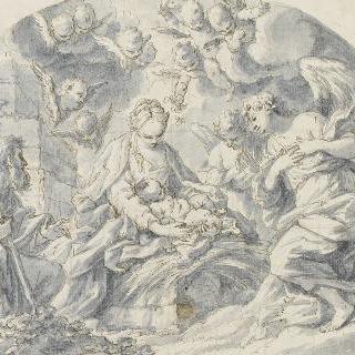 천사들의 숭배를 받는 아기 예수