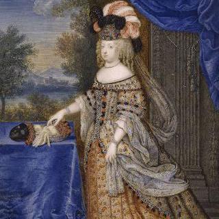 폴란드 전통복장의 마리 테레즈 왕비