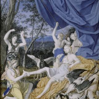 다이아나 모습의 마리 테레즈 왕비와 사냥 후 다이아나의 휴식