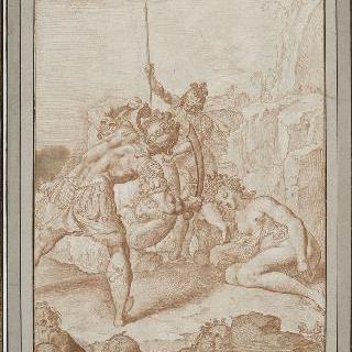 미네르바의 도움으로 메두사의 머리를 베어 낸 페르세우스