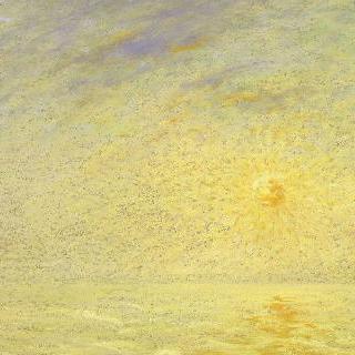 영불 해협 위의 안개와 태양