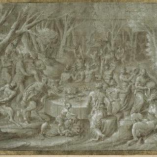 숲 속의 바쿠스신 신성들의 향연