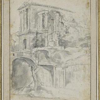 스폴레토 부근의 클리툼네의 소사원의 폐허