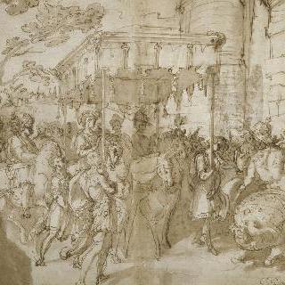 1540년 프랑수아 1세, 샤를 퀸트와 아알레산드로 파르네즈 추기경의 승리의 파리 귀환