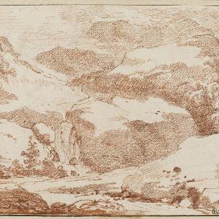 바위 습작 : 오른쪽, 폭포