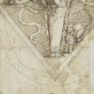 아르테미스 형상이 있는 아카데미아 델 디세뇨의 표식에 대한 습작