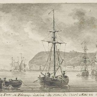1786년 북동쪽 강에서 바라본 페캉의 항구