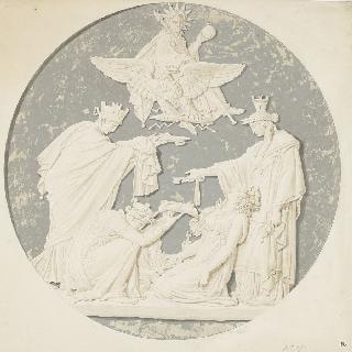 나폴레옹 1세의 영광의 우의적 원형 저부조