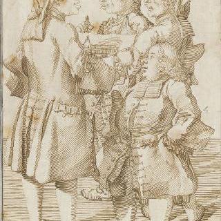 방디에르, 코쉥, 수플로, 블랑 사제 풍자화