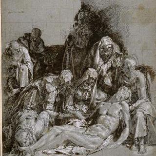 십자가에서 내려지는 그리스도와 그리스도의 비통함