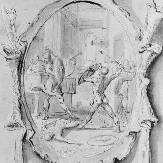 안드로메드의 결혼식의 침략자들을 무찌르는 페르세우스
