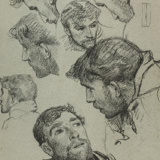 동일 그림용 습작 종이 : 남자 두상