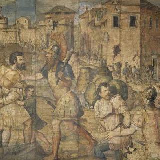 죄수들 ; 노예로 끌려가는 점령당한 도시의 주민들