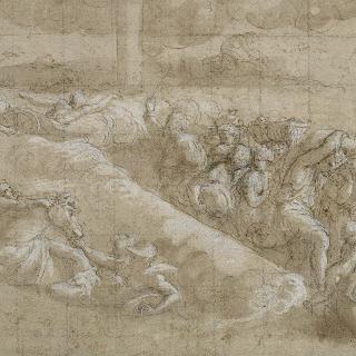 홍해를 건너기 : 바티칸의 로지아 습작 (궁륭의 8번째 기둥 사이의 거리)