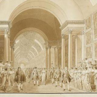 1810년 4월 2일 나폴레옹과 마리 루이즈의 결혼식