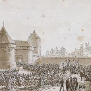 1806년 10월 16일 에르푸르트 도시의 탈환 후 오스트리아 군대의 항복