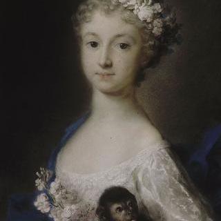 원숭이와 함께 있는 처녀 초상
