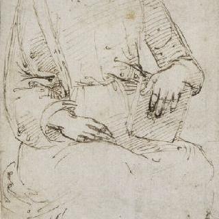 책을 들고 앉아있는 사도 세례 요한