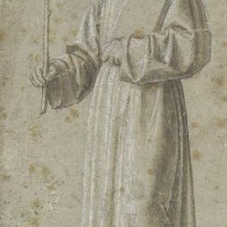 십자가와 책을 들고 있는 수도승 : 성 프랑수아